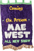 Movie/TV Memorabilia:Original Art, A Mae West Set of Advertising Banners, 1950s.... (Total: 2 Items)
