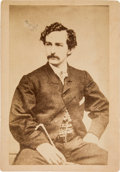 Photography:Cabinet Photos, John Wilkes Booth: Imperial Albumen Ex: Ed Emerson Collection....
