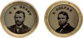 Political:Ferrotypes / Photo Badges (pre-1896), Grant & Colfax: Ferrotypes-under-Glass Studs.... (Total: 2Items)