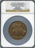 Expositions and Fairs, 1901 Pan-American Exposition, Buffalo, Lavin-TM103, MS62 Brown NGC....