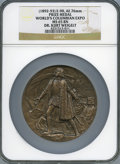 Expositions and Fairs, 1893 World's Columbian Exposition Prize Medal, Dr. Kurt Weigelt,Eglit-90, MS65 Brown NGC....