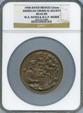Expositions and Fairs, 1908 American Chemical Society Award, New York Section, MS65 BrownNGC....
