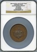 Expositions and Fairs, 1884 Vermont State Agricultural Society, Julian-AM-79, MS65 Brown NGC....