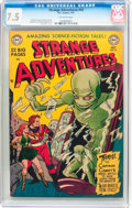 Golden Age (1938-1955):Science Fiction, Strange Adventures #10 (DC, 1951) CGC VF- 7.5 Off-white to whitepages....