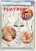 Magazines:Miscellaneous, Playboy V2#2 Newsstand Edition (HMH Publishing, 1955) CGC VF+ 8.5White pages....