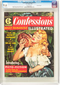 Magazines:Romance, Confessions Illustrated #1 Gaines File Pedigree 4/12 (EC, 1956) CGC NM+ 9.6 Off-white pages....
