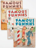 Golden Age (1938-1955):Miscellaneous, Famous Funnies Group of 10 (Eastern Color, 1936-42) Condition: Average FR.... (Total: 10 Comic Books)
