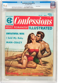Confessions Illustrated #2 Gaines File pedigree 4/11 (EC, 1956) CGC NM+ 9.6 Off-white to white pages