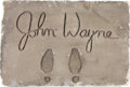 "Movie/TV Memorabilia:Props, A John Wayne Prop 'Grauman's Chinese Theatre' Signature/FootprintSlab from ""I Love Lucy.""..."