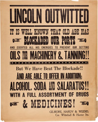 """A Prop Broadside Poster from """"Gone With The Wind."""""""