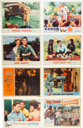 Movie/TV Memorabilia:Posters, Elvis Presley - Nine Lobby Card Sets and One Front-of-House StillSet (circa 1960s)....