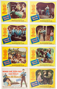 Elvis Presley - Complete Set of Eight Lobby Cards from Love Me Tender (20th Century Fox, 195