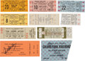 Music Memorabilia:Tickets, Rock Concert Tickets - Group of Ten Including Janis Joplin with BigBrother and the Holding Company/ The Animals/ etc. (1965-1...