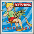 Music Memorabilia:Autographs and Signed Items, Offspring Signed Limited-Edition Americana Print withBackstage Pass....