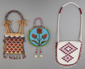 American Indian Art:Beadwork and Quillwork, Three Plateau Beaded Hide Purses . ... (Total: 3 Items)