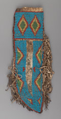 American Indian Art:Beadwork and Quillwork, A Sioux Beaded Hide Knife Sheath ...