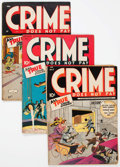 Golden Age (1938-1955):Crime, Crime Does Not Pay Group of 6 (Lev Gleason, 1943-46) Condition: Average FR except as noted.... (Total: 6 Comic Books)