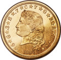 Proof Four Dollar Gold Pieces, 1880 $4 Flowing Hair, Judd-1657, Pollock-1857, R.6, PR65 NGC....
