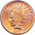 Indian Eagles, 1911-S $10 MS66 PCGS Secure....