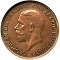 Great Britain, Great Britain: George V Penny 1933 MS63 Brown NGC,...