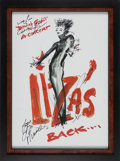 Music Memorabilia:Autographs and Signed Items, Liza Minelli Signed Poster....