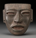 Paintings, A Life-size Teotihuacan Stone Mask in Dense Stone. c. 450 - 650 AD...