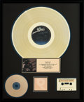 Music Memorabilia:Awards, Stevie Ray Vaughan and Double Trouble Texas Flood RIAAHologram Gold Record Sales Award (Epic AL 38734, 1983). ...