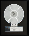 Music Memorabilia:Awards, Eric Clapton August RIAA Hologram Platinum Record SalesAward (Duck 1-25476, 1976)....