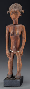 Tribal Art, BAULE, Ivory Coast. Female Figure...