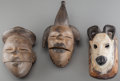 Tribal Art, OGONI AND BAULE, Nigeria and Ivory Coast. Three Masks... (Total: 3Items)
