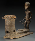 Tribal Art, DAN, Liberia. Drummer with Drum... (Total: 2 Items)