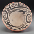 American Indian Art:Pottery, A Gila Black-On-White Bowl...