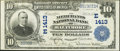 National Bank Notes:Maryland, Baltimore, MD - $10 1902 Plain Back Fr. 632 The Merchants NB Ch. #(E)1413. ...