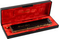 Music Memorabilia:Memorabilia, Stevie Wonder Owned And Played Harmonica (circa 2000s)....