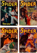 Pulps:Hero, The Spider Group of 4 (Popular, 1934).... (Total: 4 Items)