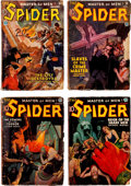 Pulps:Hero, The Spider Group of 5 (Popular, 1935-37).... (Total: 5 Items)