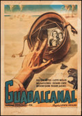"Movie Posters:War, Guadalcanal Diary (20th Century Fox, 1945). Italian Foglio (27"" X39""). War.. ..."