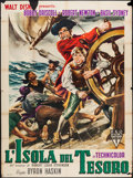 "Movie Posters:Adventure, Treasure Island (RKO, 1951). Italian 4 - Fogli (54.5"" X 77"").Adventure.. ..."