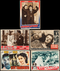 """Brother Orchid & Others Lot (Warner Brothers, 1949). First Post-War Release Italian Photobustas (13.5"""" X 19&quo..."""