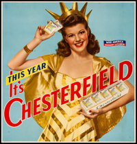 """Chesterfield Cigarettes (Liggett & Myers, 1941). Advertising Poster (20.75"""" X 22.75""""). Miscellaneous"""