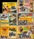 """Movie Posters:Rock and Roll, Help! & Others Lot (United Artists, 1966). Mexican Lobby Cards(12) (10.25"""" X 14.25"""" & approx. 12.5"""" X 16.25""""). Rock andRol... (Total: 12 Items)"""