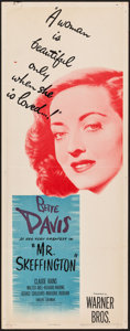 "Movie Posters:Romance, Mr. Skeffington (Warner Brothers, 1944). Insert (14"" X 36""). Romance.. ..."