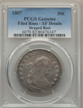 Early Half Dollars: , 1807 50C Draped Bust -- Filed Rims -- PCGS Genuine. XF Details. NGCCensus: (81/329). PCGS Population (142/404). Mintage: 3...