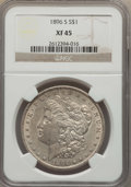Morgan Dollars: , 1896-S $1 XF45 NGC. NGC Census: (161/1016). PCGS Population (215/1954). Mintage: 5,000,000. Numismedia Wsl. Price for probl...