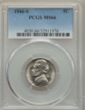 Jefferson Nickels, (2)1946-S 5C MS66 PCGS. PCGS Population: 527 in 66 (11 in 66+), 5 finer (5/16).... (Total: 2 coins)