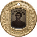 Political:Ferrotypes / Photo Badges (pre-1896), George B. McClellan: Back-to-Back Ferrotype Badge....
