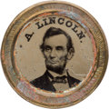 Political:Ferrotypes / Photo Badges (pre-1896), Abraham Lincoln: Large 1864 Ferrotype....