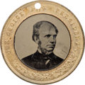 Political:Ferrotypes / Photo Badges (pre-1896), Horatio Seymour: Back-to-Back Ferrotype. ...