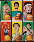 Basketball Cards:Lots, 1970 Topps Basketball Stars & HoFers Collection (6)....