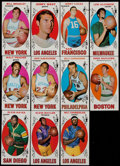 Basketball Cards:Lots, 1969 Topps Basketball Stars & HoFers Collection (11) WithAlcindor....